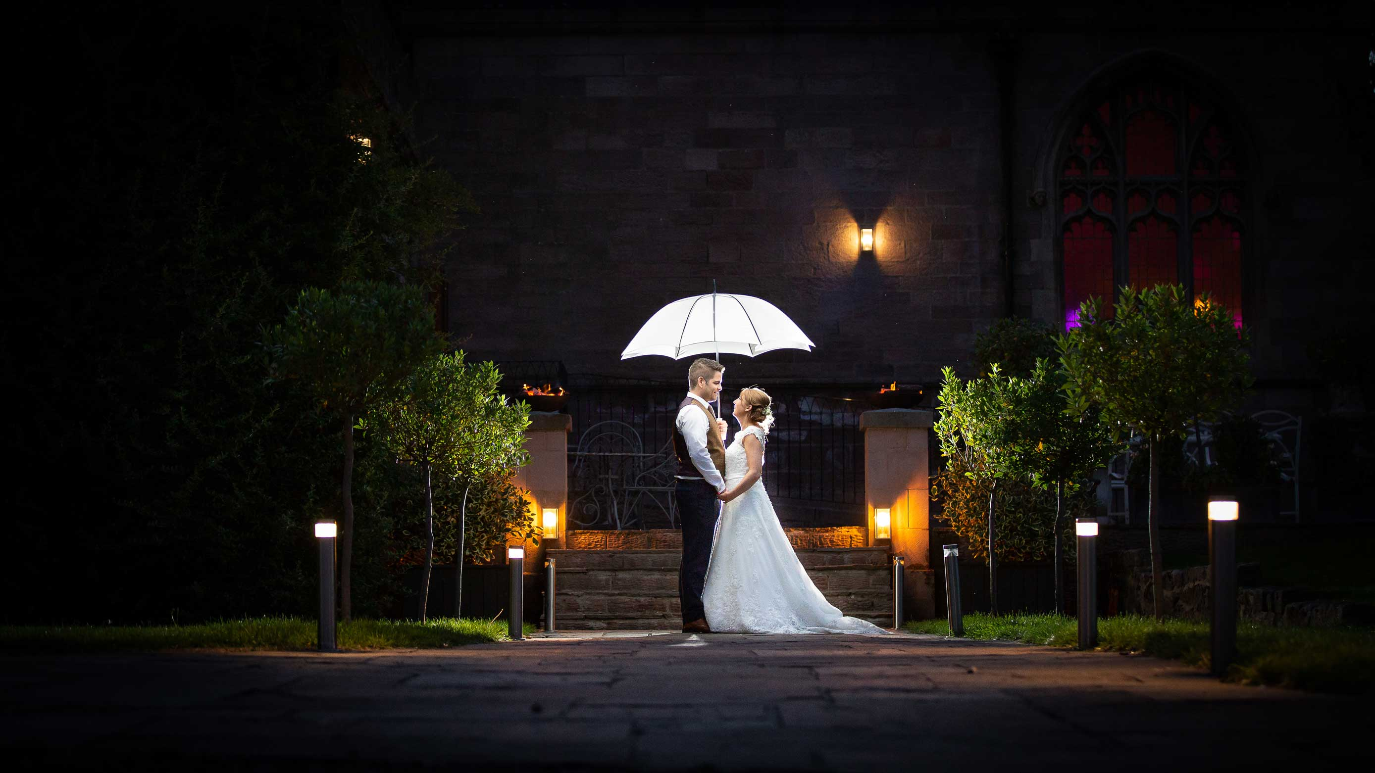 Wedding Couple at Ellingham hall
