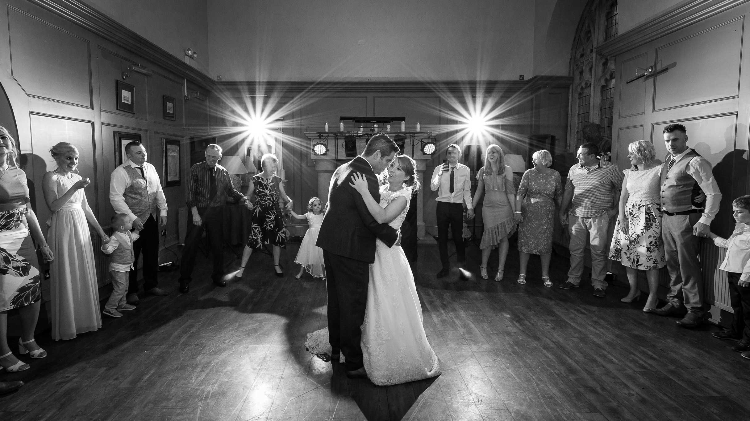Photo of the bride and grooms first dance