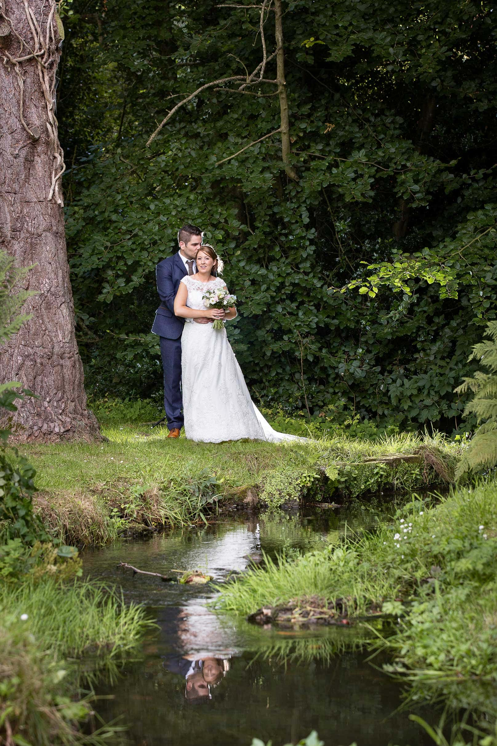 photo of the bride and groom, Ellingham Hall