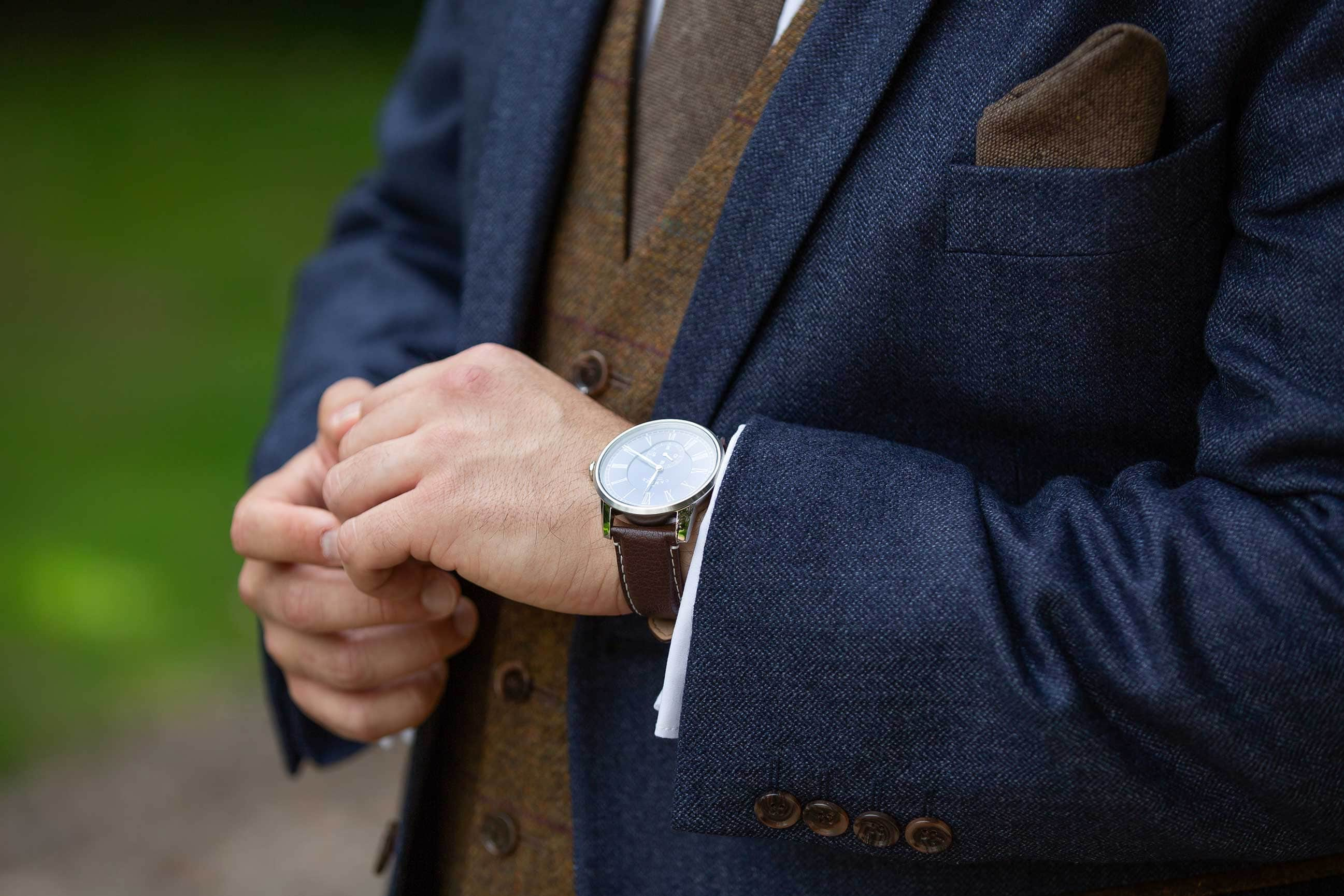 Photo of the grooms watch