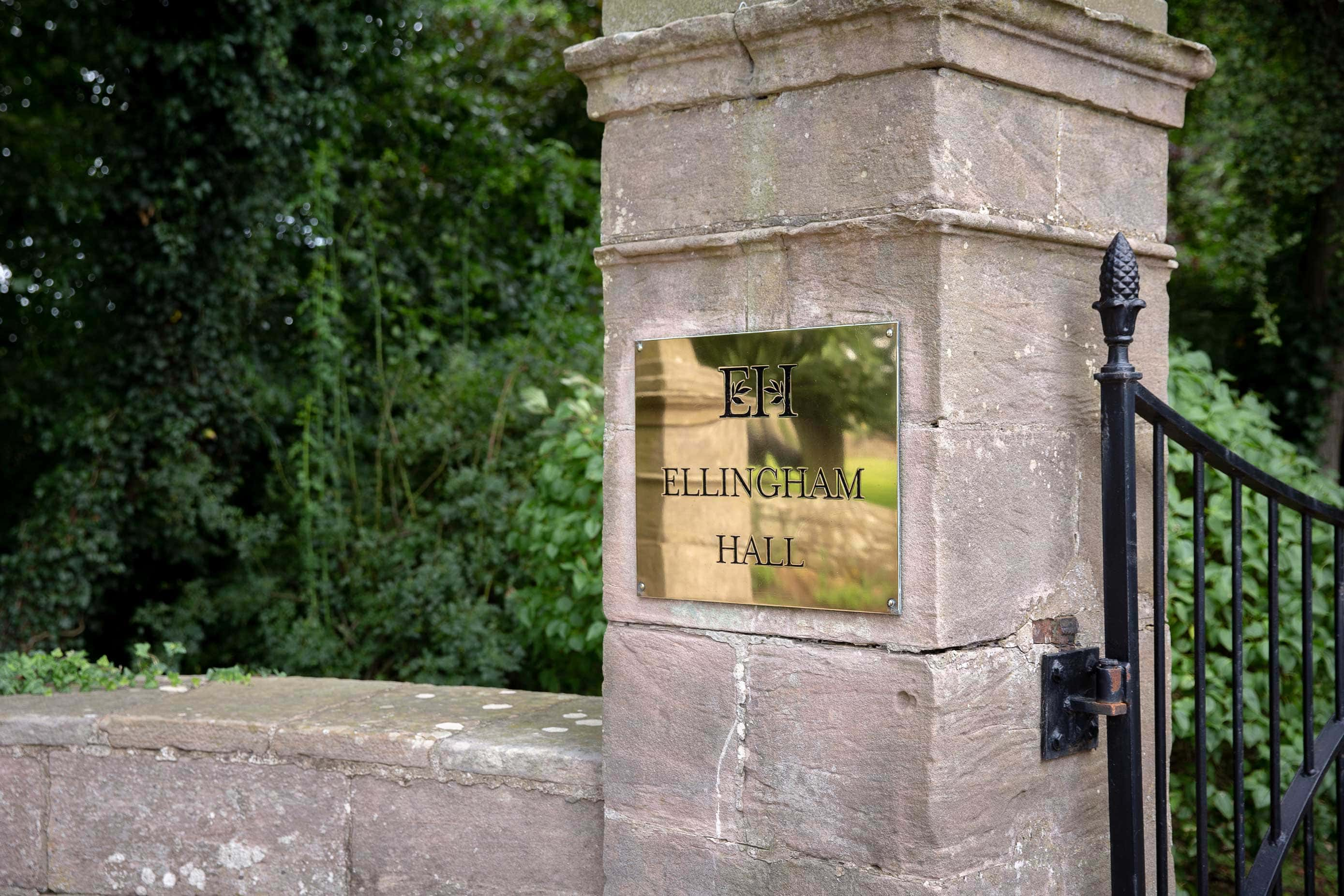 Photo of Ellingham Hall sign