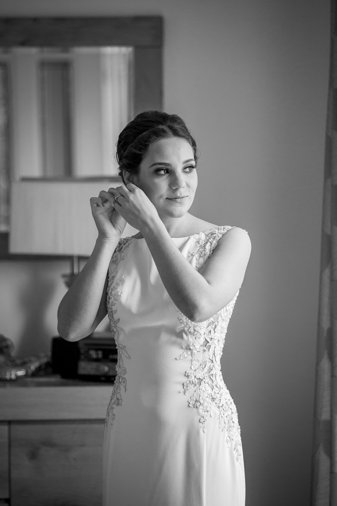 photo of bride getting ready