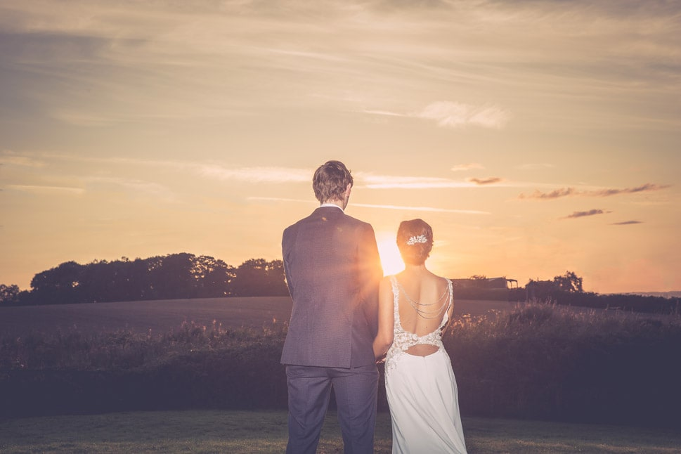 Sunset wedding image