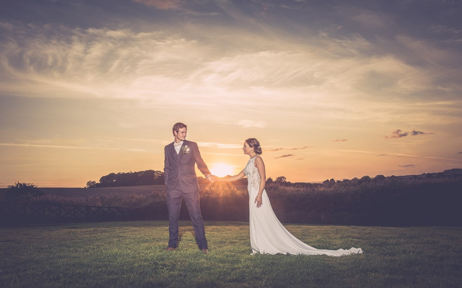Sun set wedding Photo