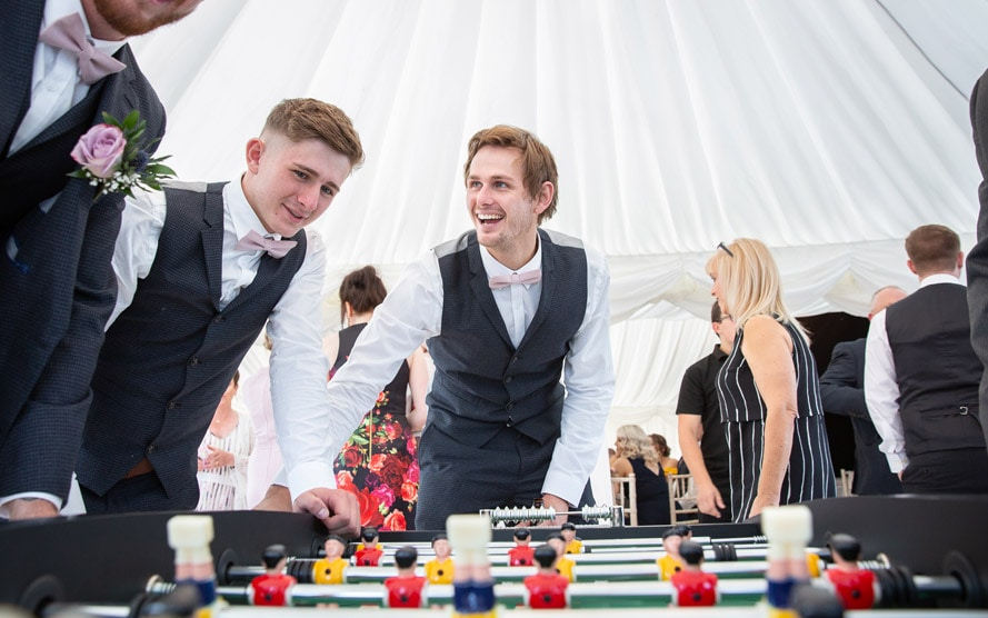 Photo of the Groom having fun with Friends