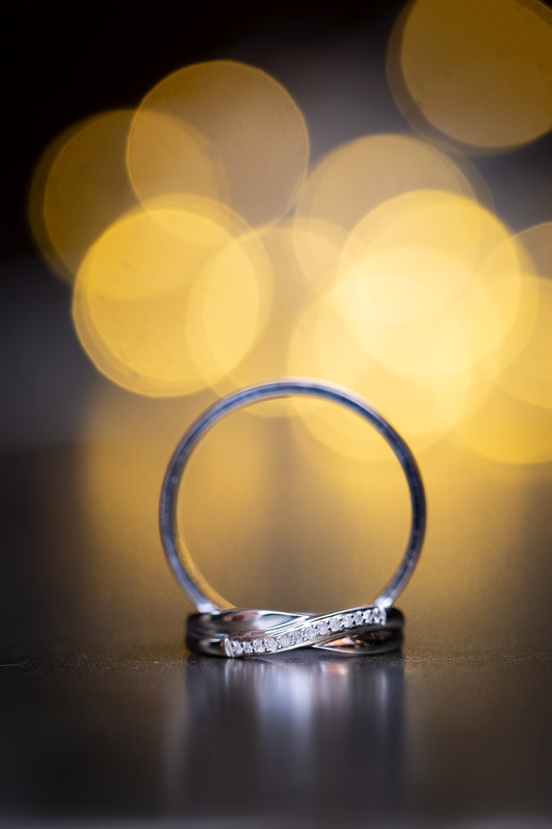 Photo of wedding rings by Teardrop Photography