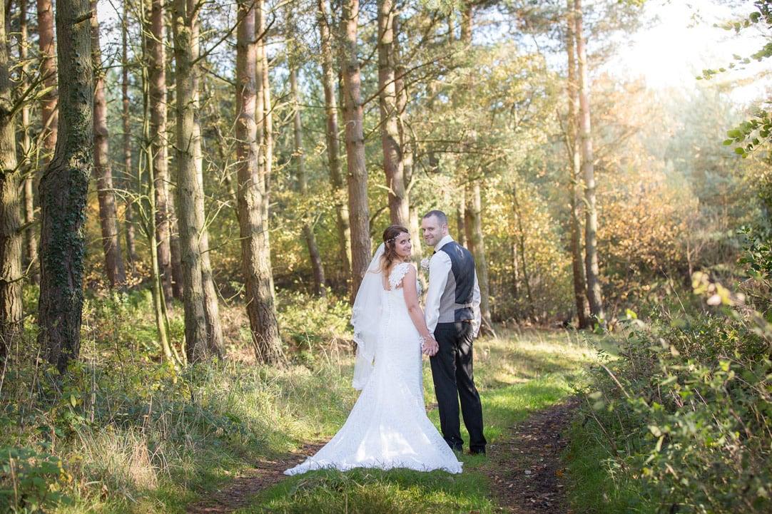 Bride and Groom at Healey Barn