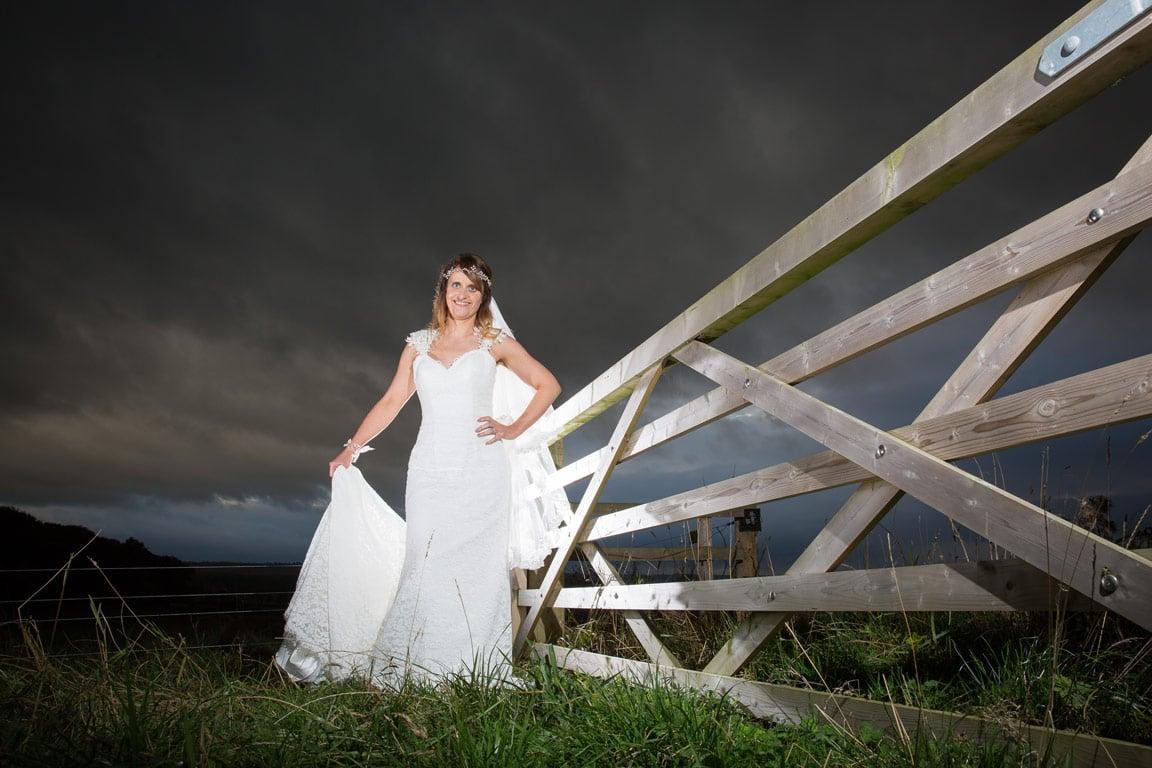 Photo of Bride at Healey Barn