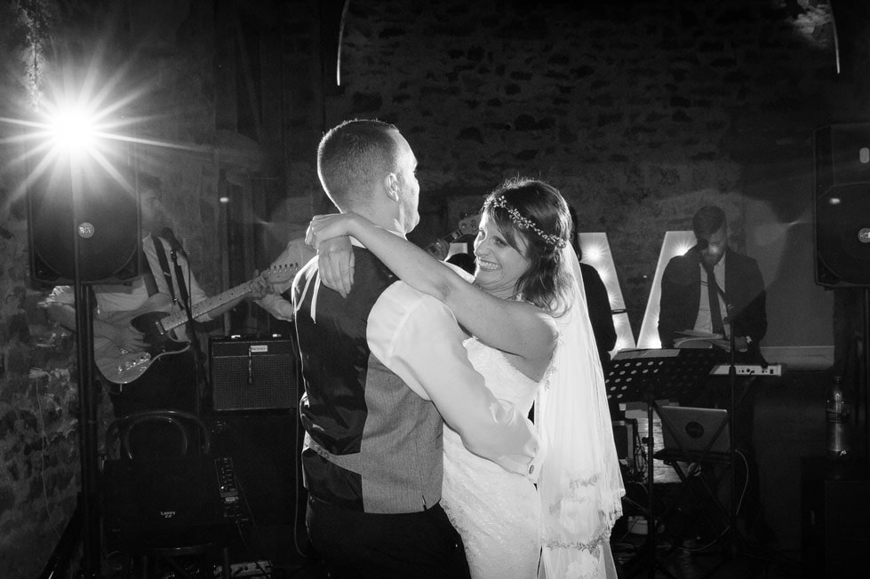 Photo of couple first Dance at Healey Barn