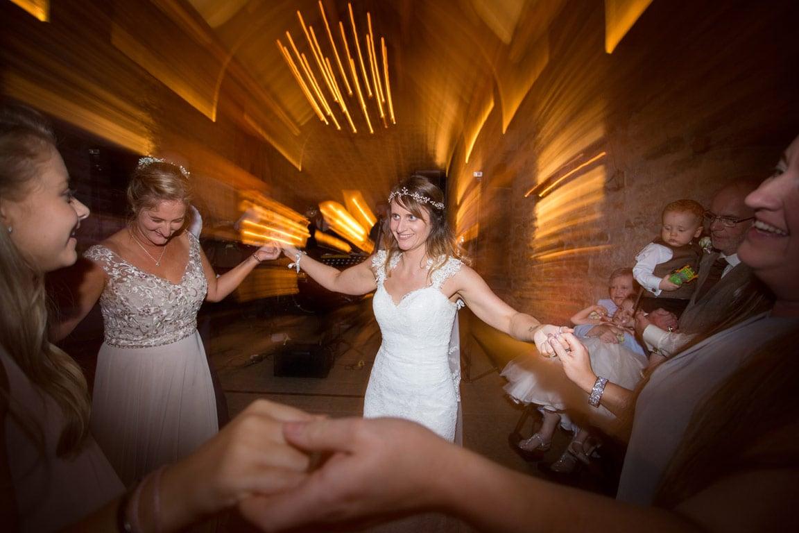 Photo of Bride dancing at healey Barn
