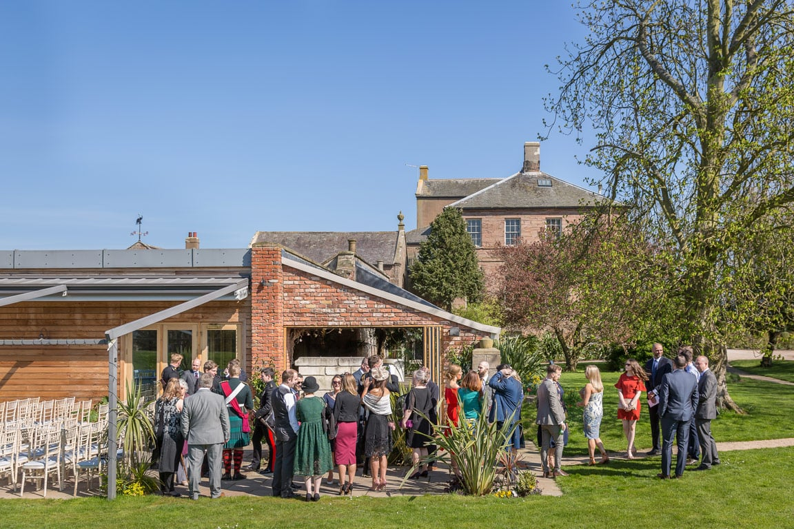 Photo of guests at Newton hall