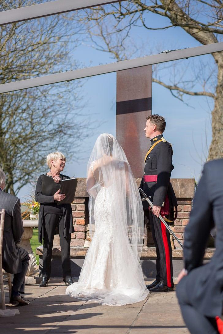 Photo of outside wedding at Newton Hall