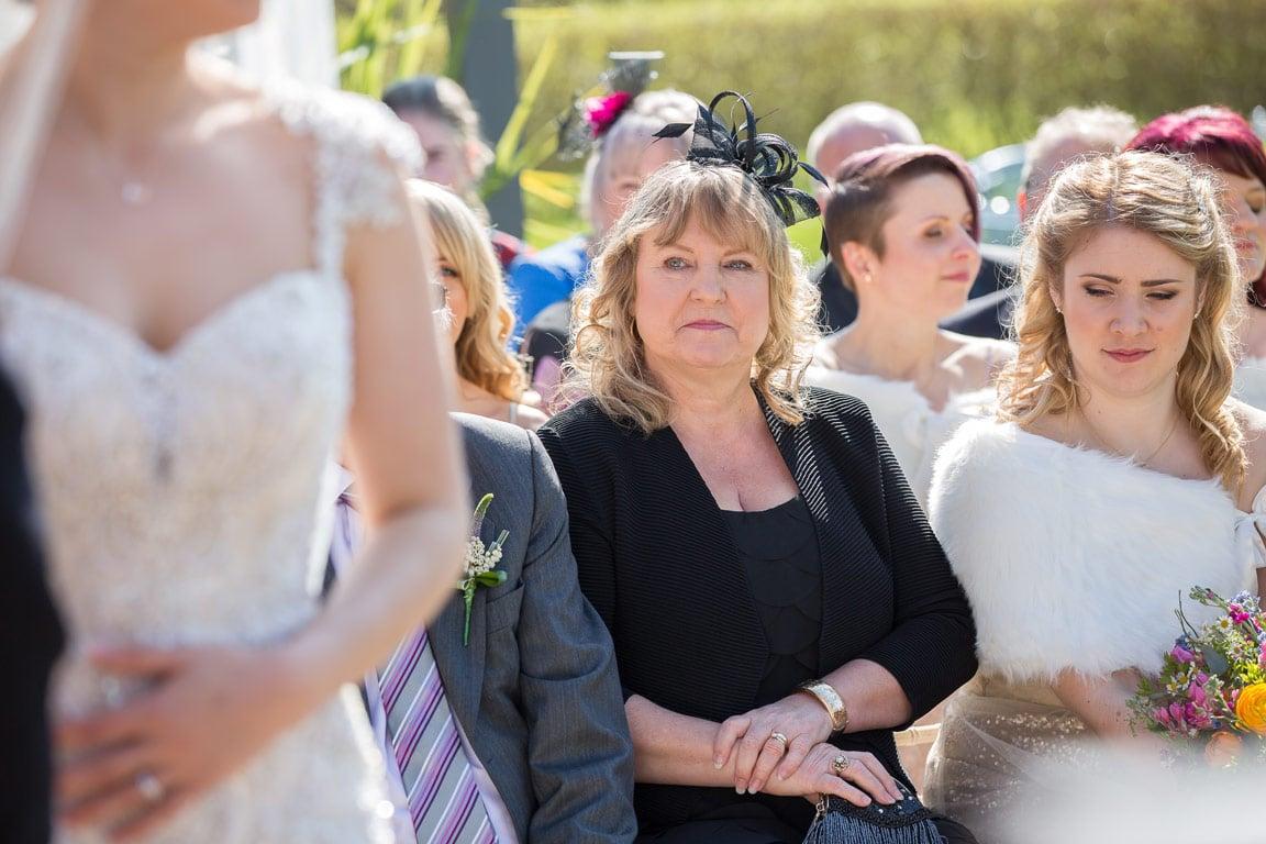 Photo of brides mum during ceremony