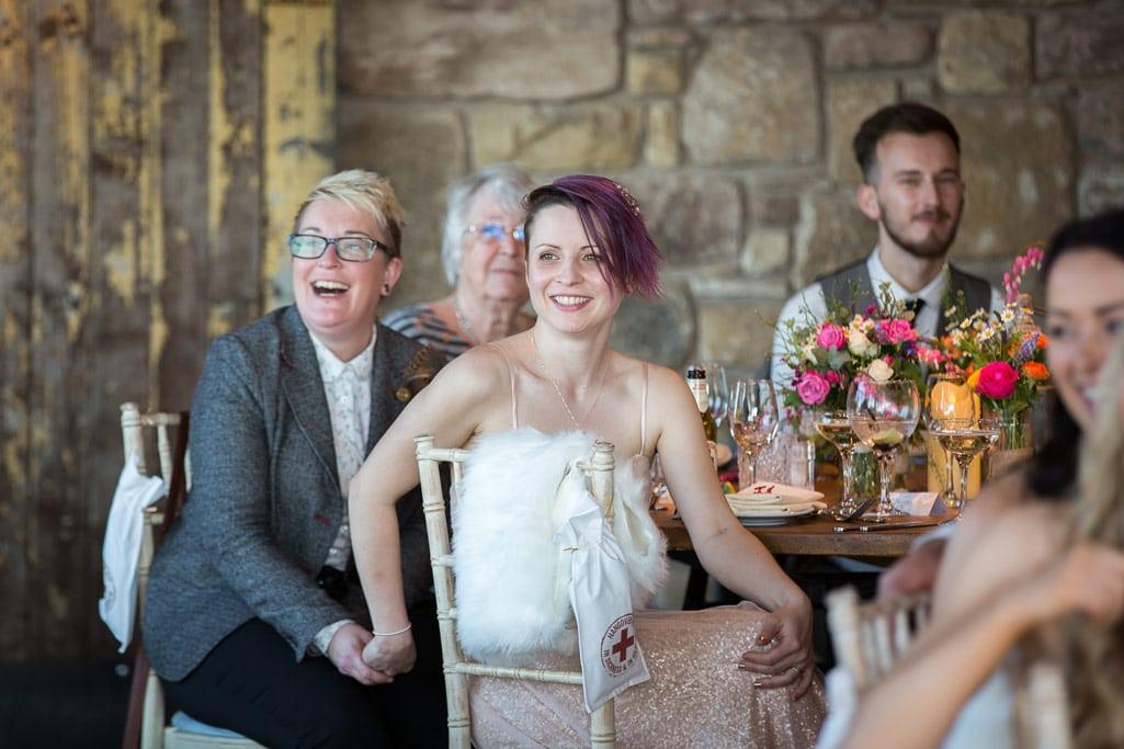 Photo of wedding speech at Northumberland