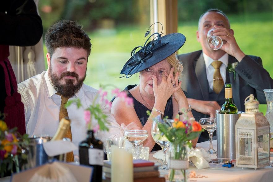 Photo of the wedding speeches