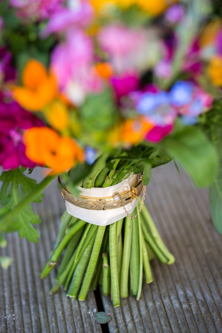 Photo of wedding bouquet at Newton Hall