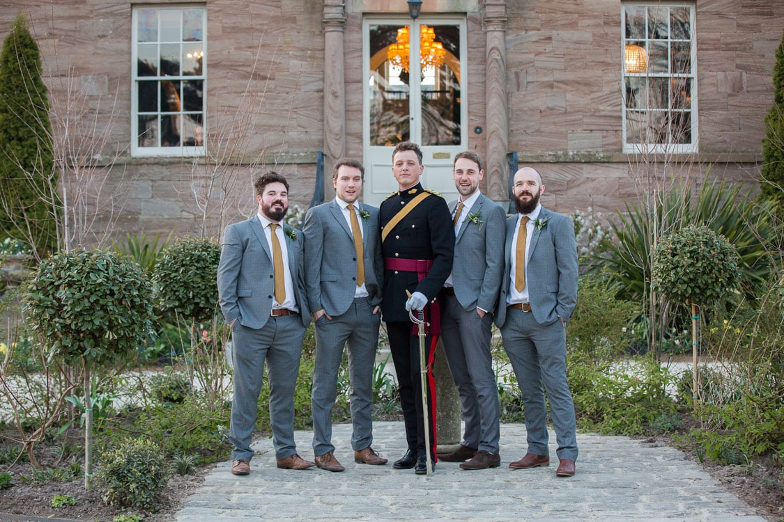 Photos of the groom and groomsmen