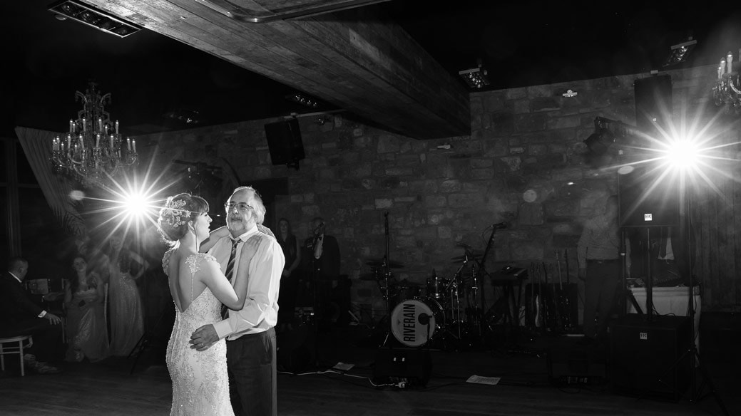 Bride dancing with father at Newton hall