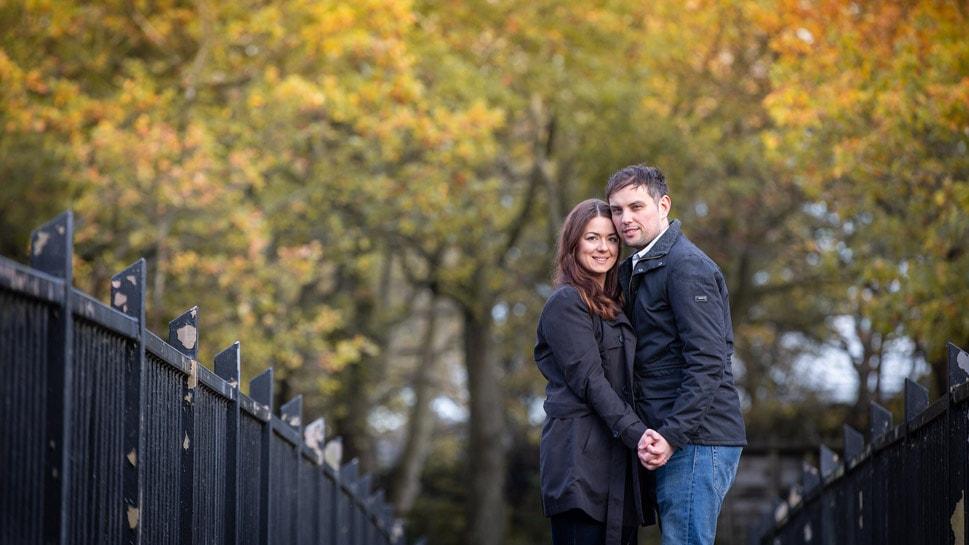 Couple pre Wedding photos at Causey Arch