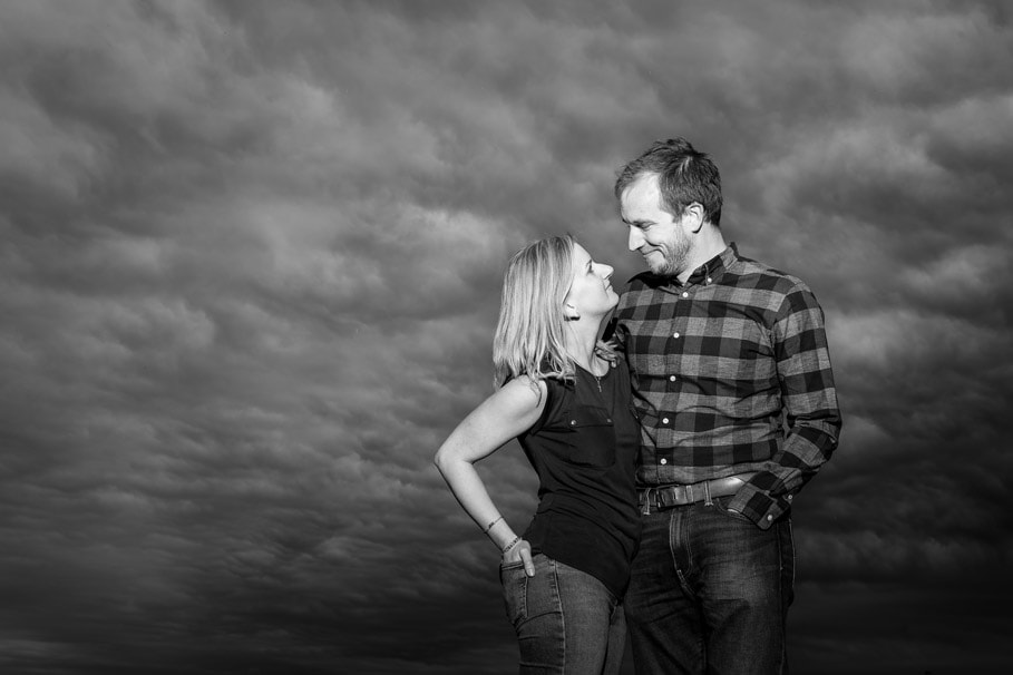 Black and white pre wedding photography Durham