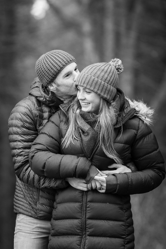 Black and white pre Wedding Photography