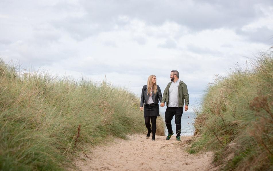 Pre Wedding photos of couple in Northumberland