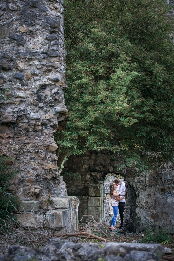 Couple kissing on Their pre Wedding photography shoot