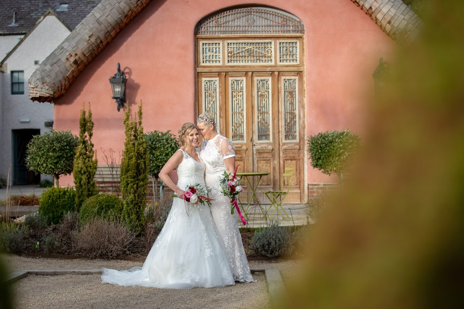 Brides at Le petit chateau