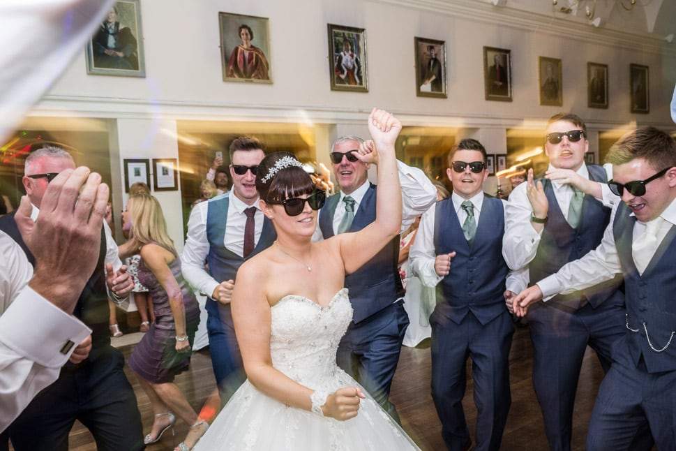photo of Bride dancing at Durham Wedding