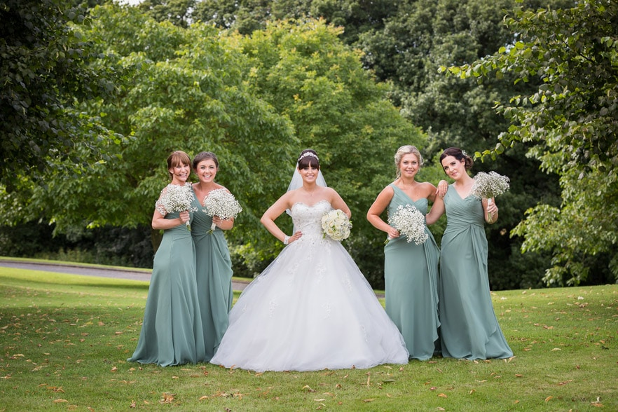 Photo of bridal party at Durham Wedding