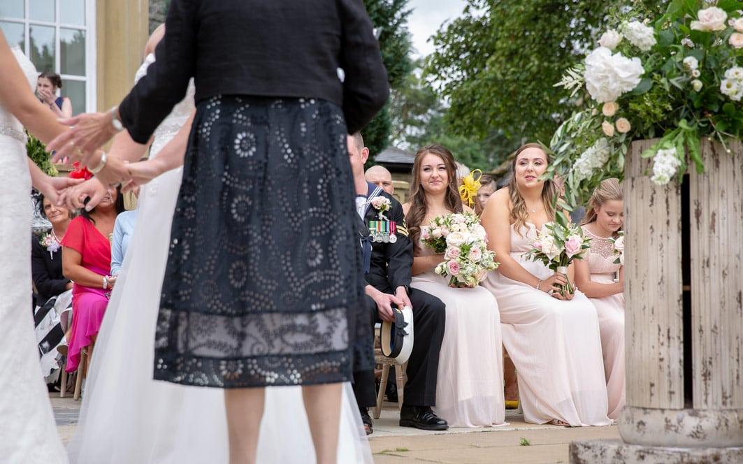Photo of bridesmaids at Woodhill Hall