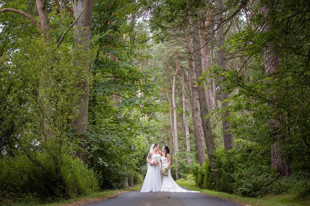 Bridal photos at Woodhill Hall Northumberland