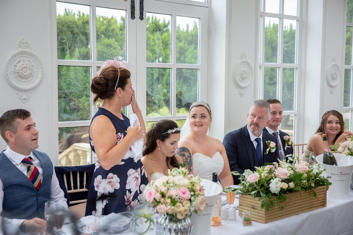 Photo of the speeches at Woodhill Hall Wedding