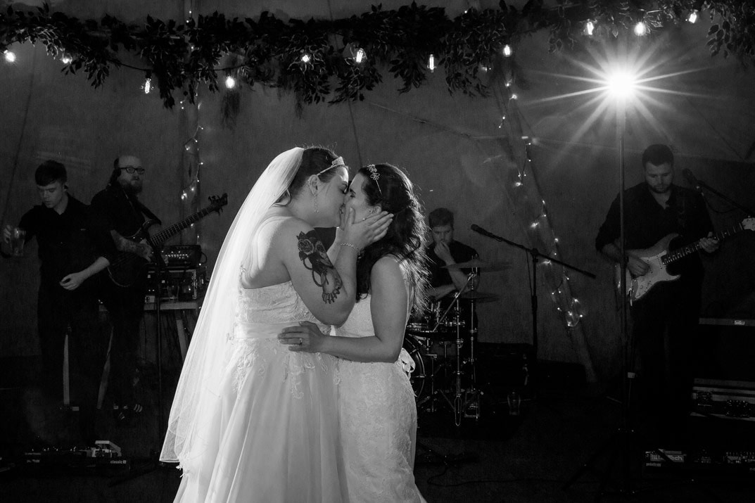 Bride Kissing on the Dance floor
