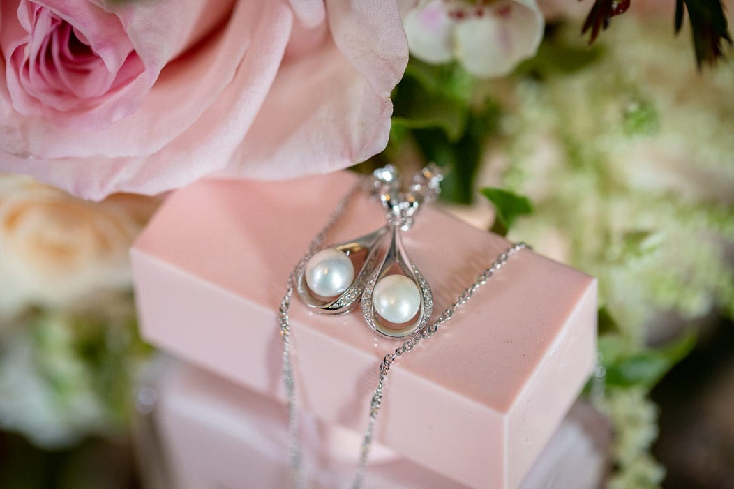photo of brides earings at Woodhill Hall
