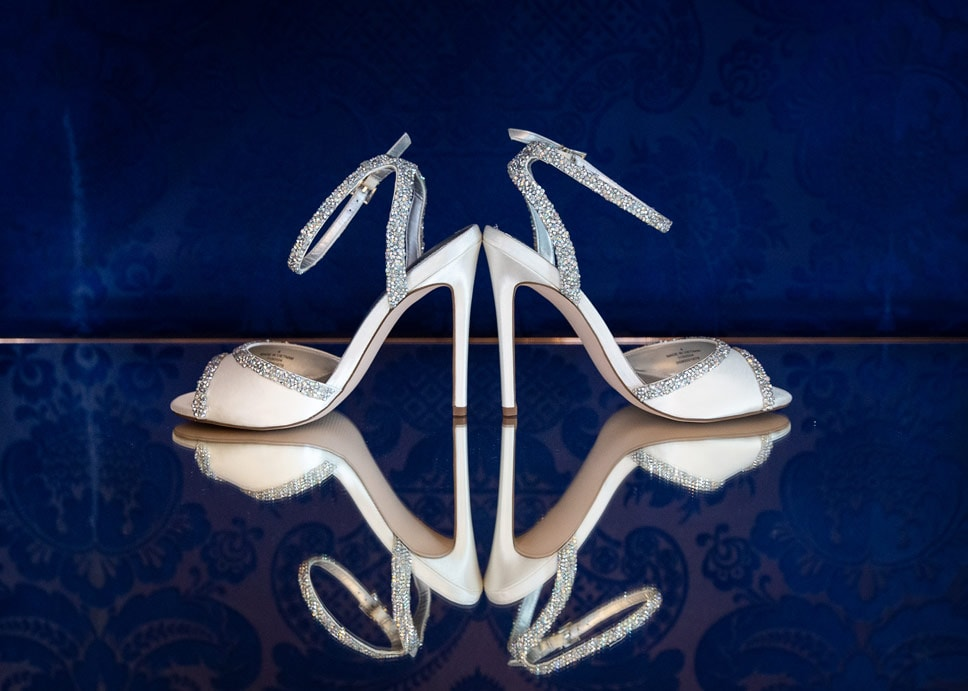 Photo of Brides shoes at Woodhill Hall