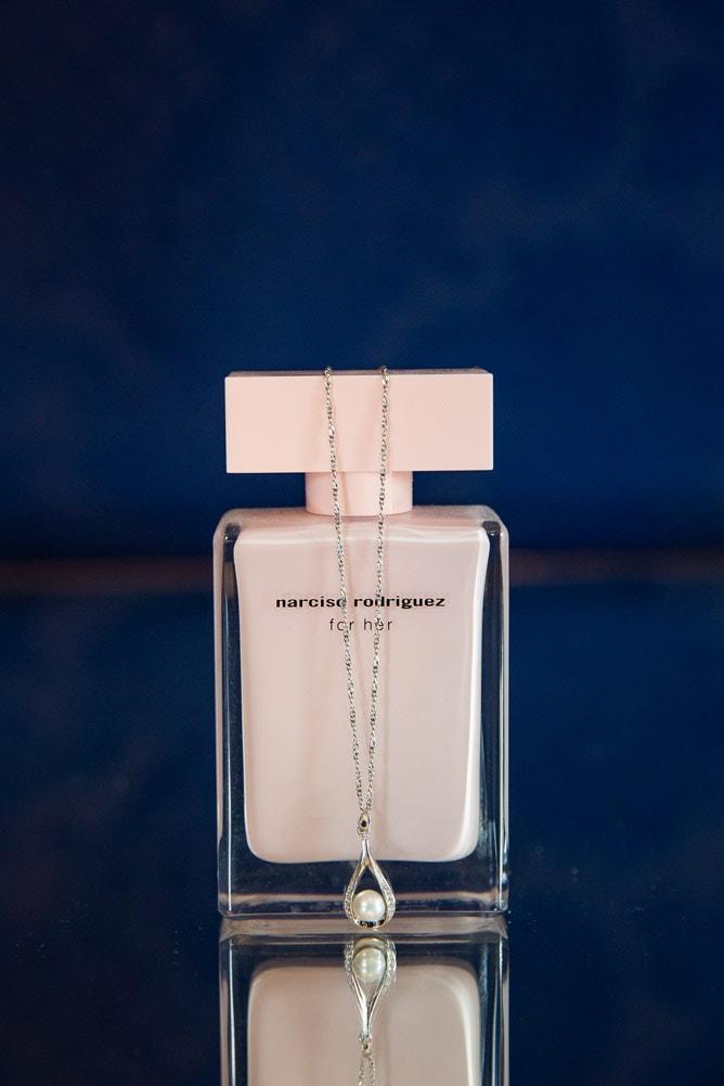 Photo of brides perfume at Woodhill Hall Wedding
