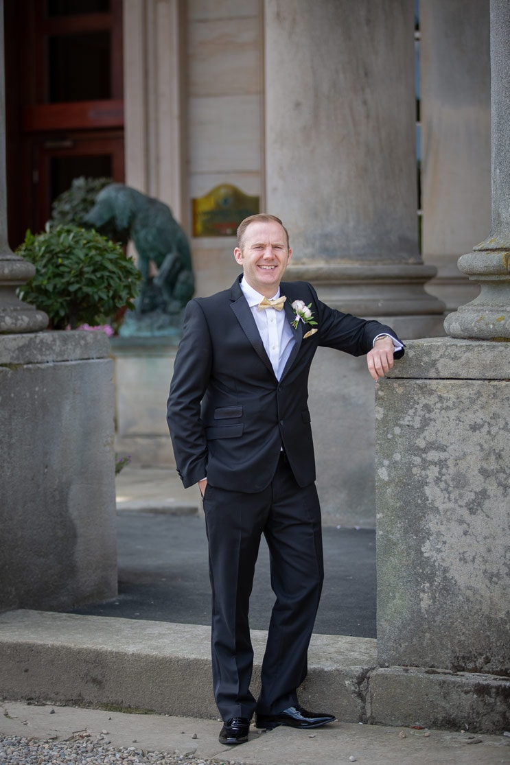 Photo of the groom at Wynyard Hall