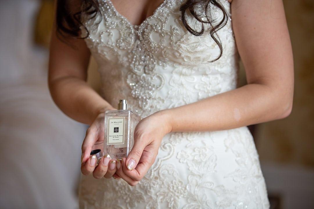 Brides perfume at Wynyard Hall