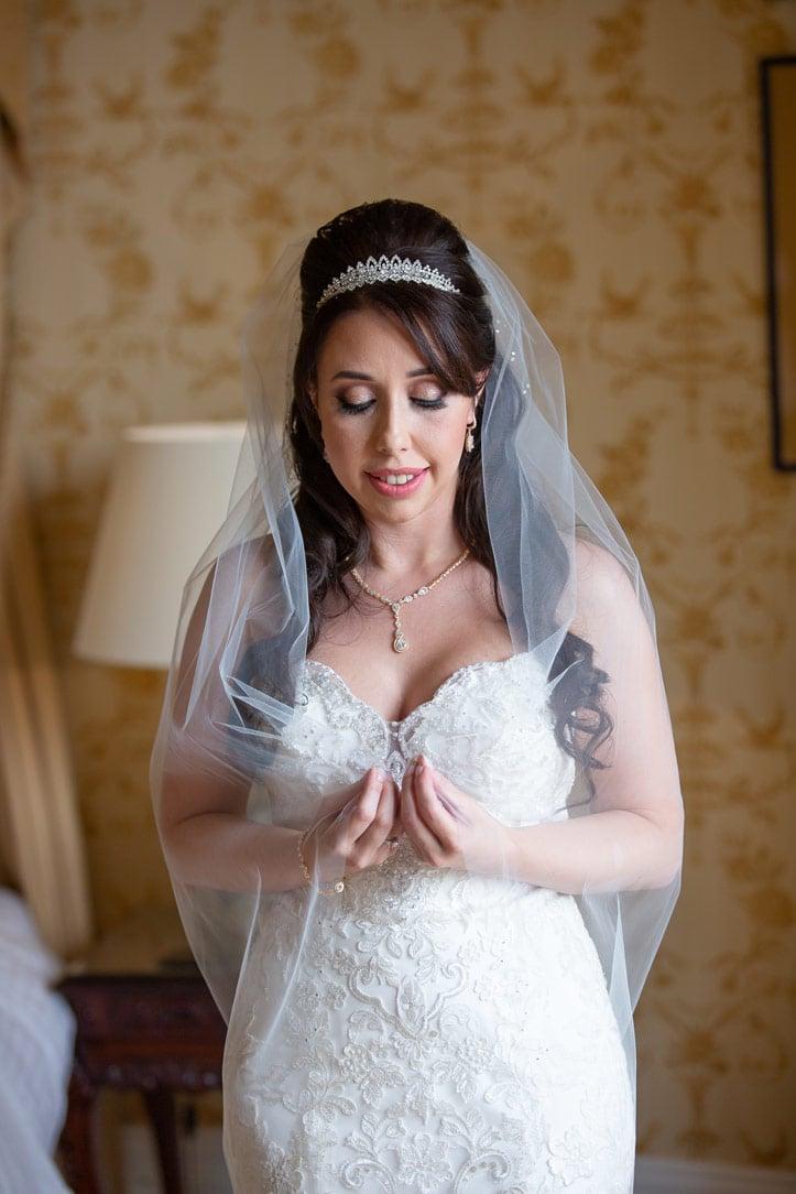 Photo of Bride at Wynyard Hall