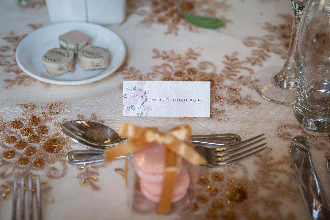 Photo of Wedding reception Name card at Wynyard Hall