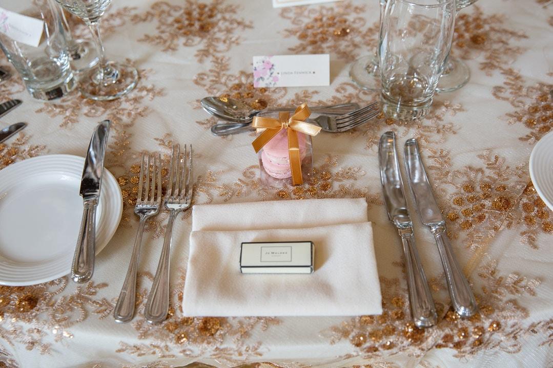 Photo of wedding reception at Wynyard Hall