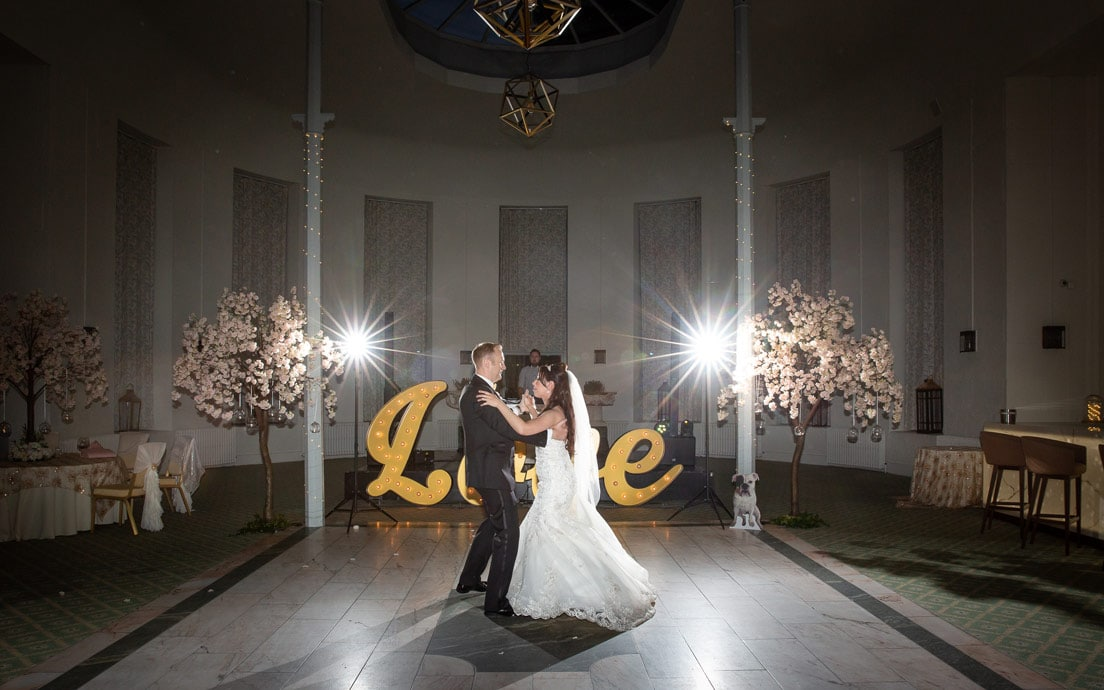 Photo of the First Dance at Wynyard Hall wedding