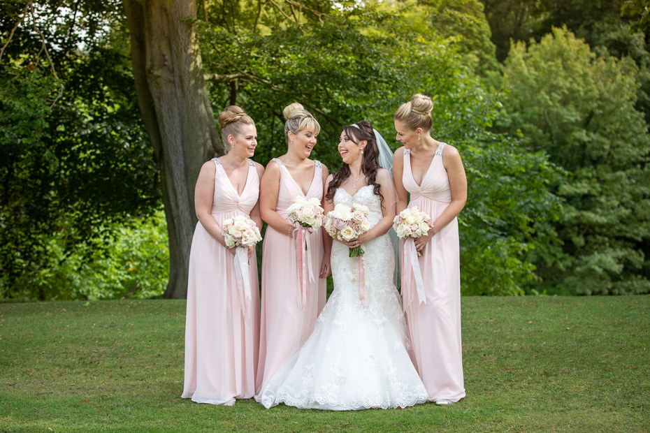 Bridal Party at Wynyard Hall