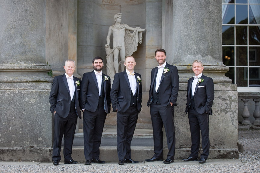 Photo of the Groomsmen at Wynyard Hall