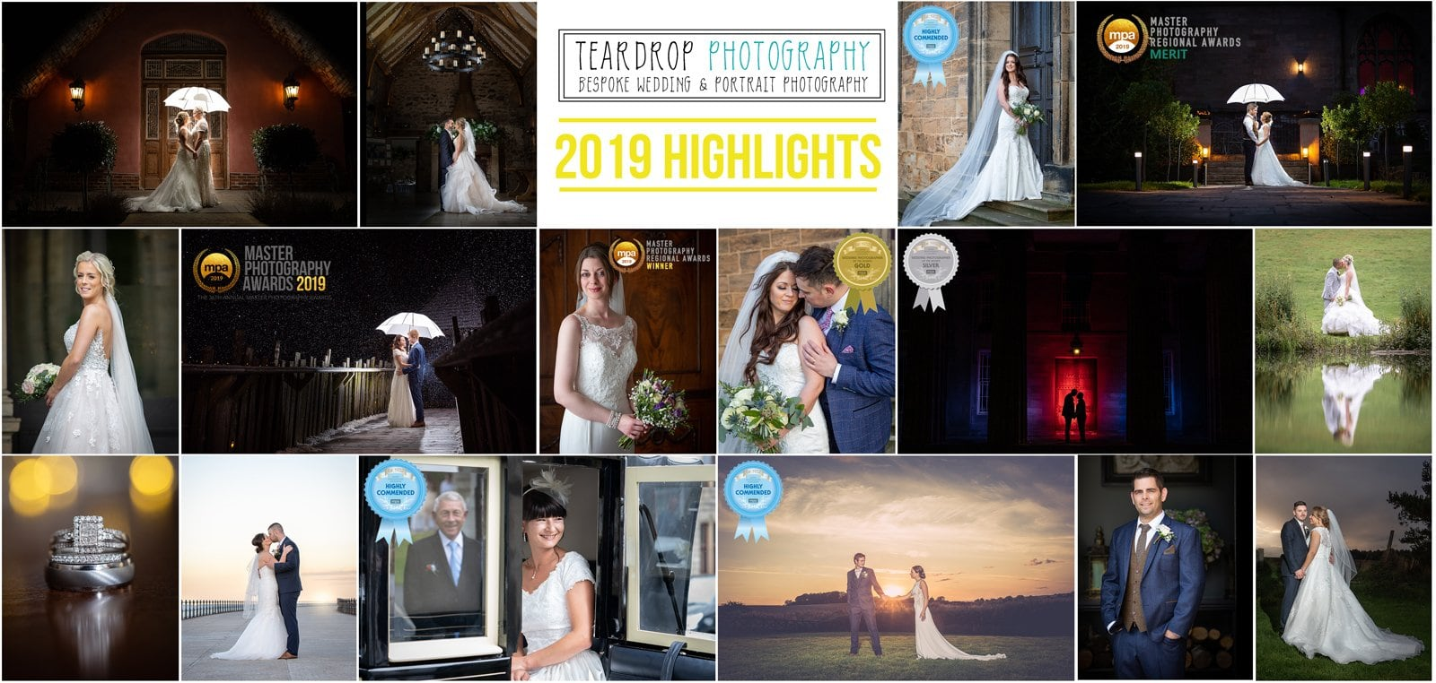 shows highlight images and awards for 2019