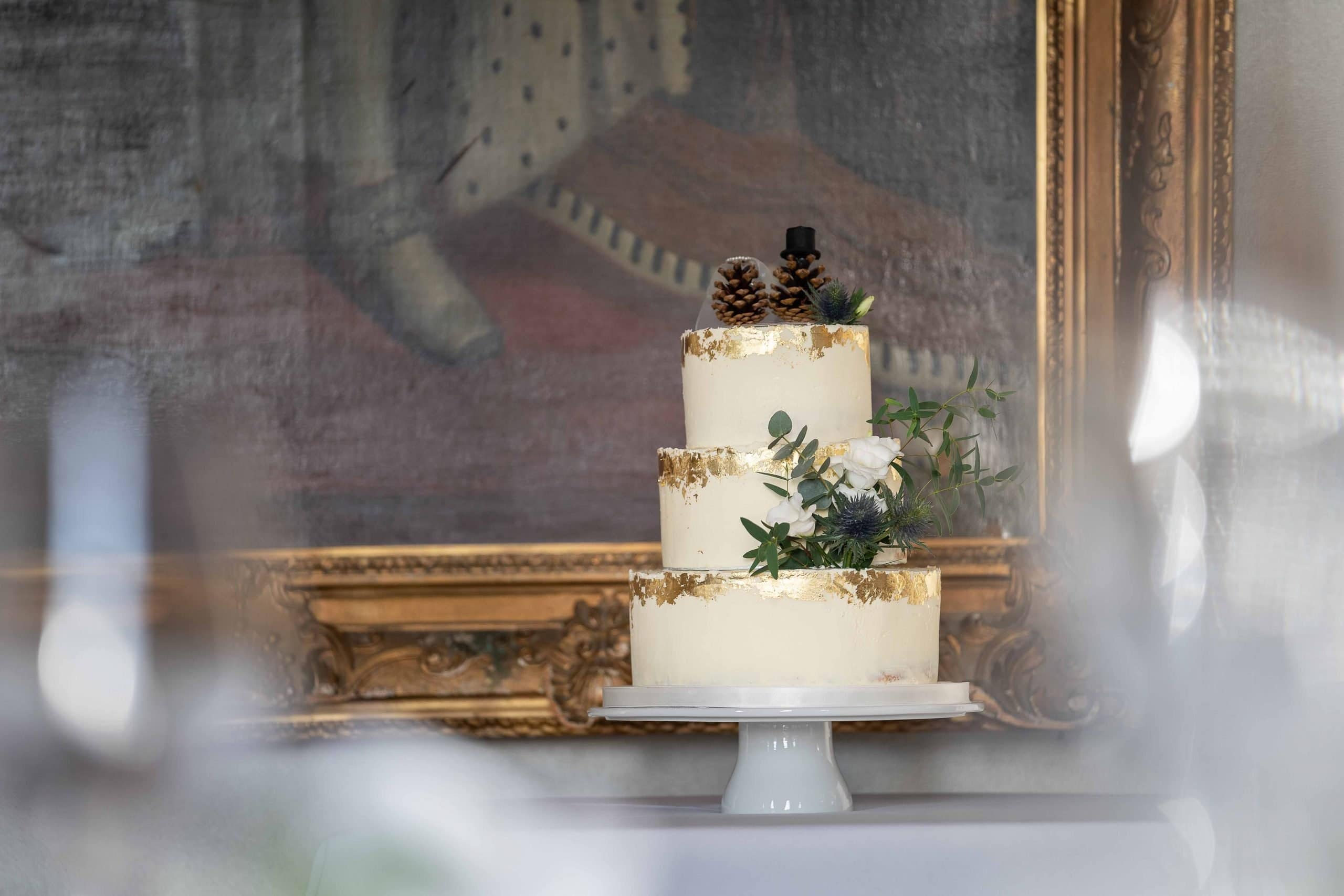 Wedding Cake at Crathorne Hall