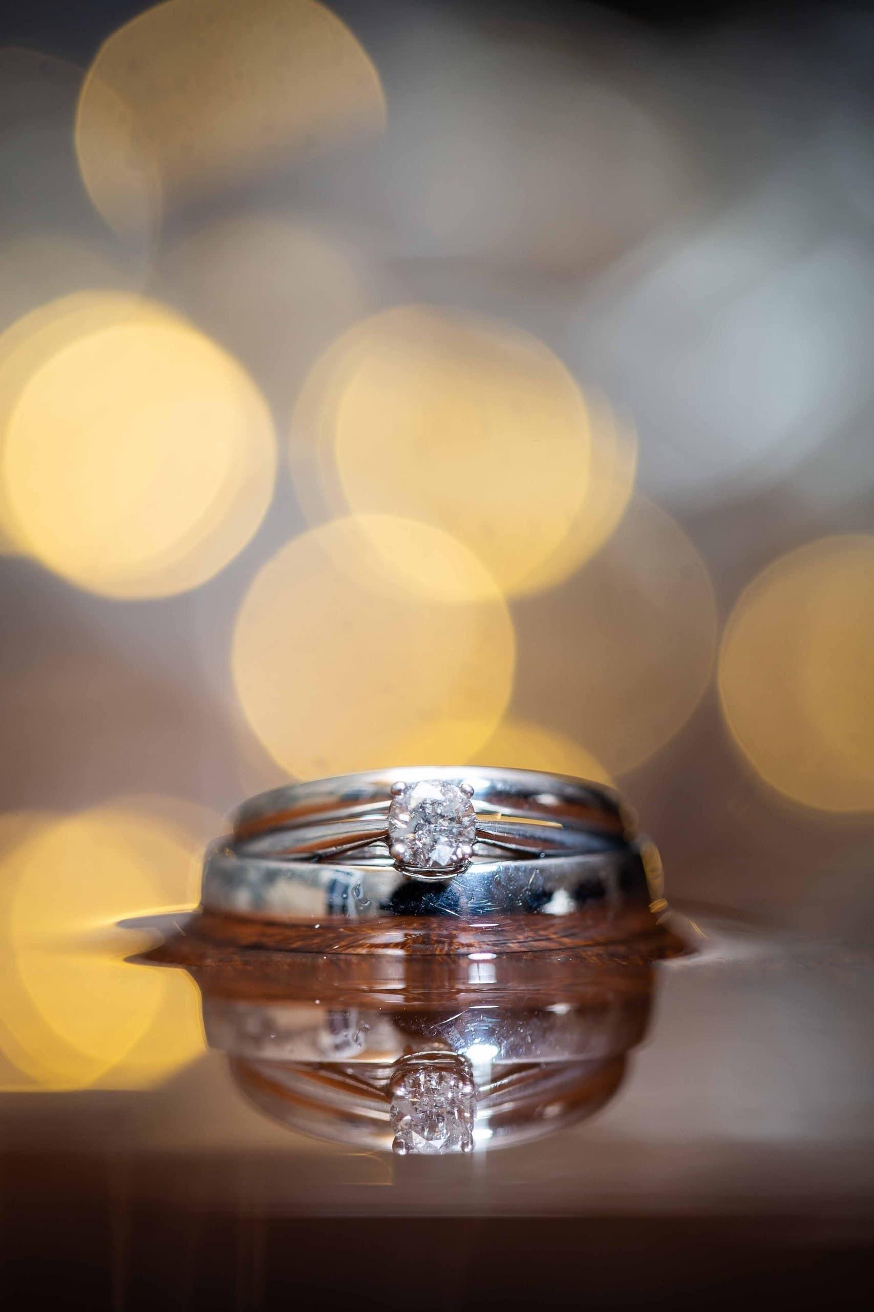 Wedding rings at Doxford Barns