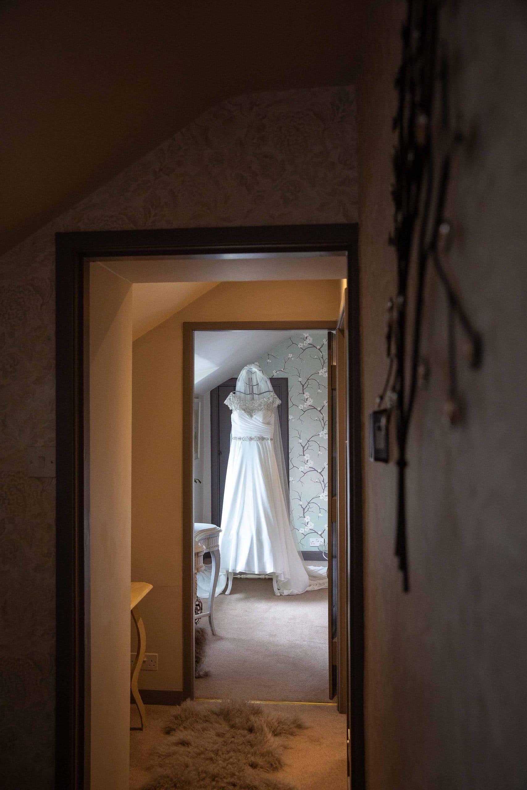 Wedding dress at Doxford Barns