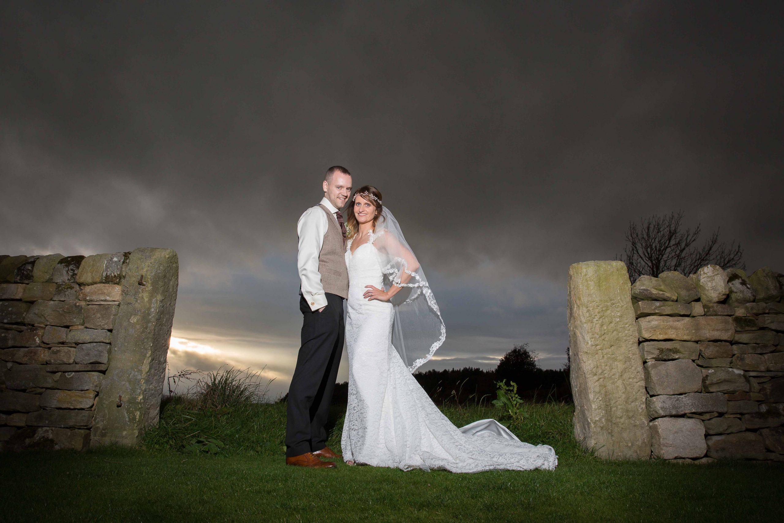 Creative wedding photos by Teardrop Photography at Healey Barn